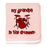 My Grandpa is the Drummer baby blanket