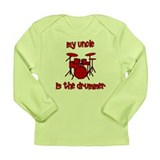 My Uncle is the Drummer Long Sleeve Infant T-Shirt