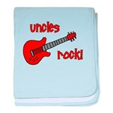 Uncles Rock! Red Guitar baby blanket