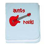 Aunts Rock! Red Guitar baby blanket