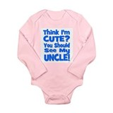 Think I'm Cute? Uncle Blue Onesie Romper Suit
