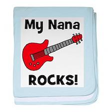 My Nana Rocks! (guitar) baby blanket