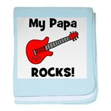 My Papa Rocks! (guitar) baby blanket