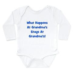 What Happens At Grandmas Blue Long Sleeve Infant B