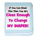 Change My Diaper! Pink baby blanket