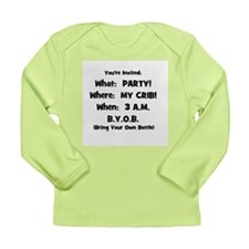 Party @ My Crib Long Sleeve Infant T-Shirt