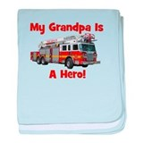 Grandpa Is My Hero FireTruck baby blanket