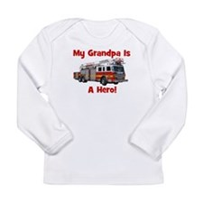 Grandpa Is My Hero FireTruck Long Sleeve Infant T-