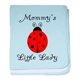 Mommy's Little Lady - Ladybug baby blanket