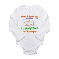 Mimi & Papi Say I'm a Keeper Long Sleeve Infan