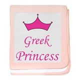 Greek Princess with Crown baby blanket