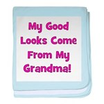Good Looks from Grandma - Pin baby blanket