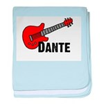 Guitar - Dante baby blanket