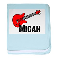 Guitar - Micah baby blanket