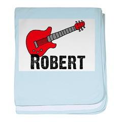 Guitar - Robert baby blanket