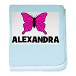 Butterfly - Alexandra baby blanket