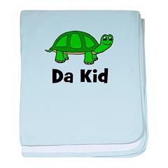 "Turtle - ""Da Kid"" baby blanket"