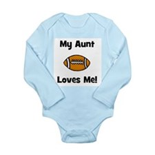 My Aunt Loves Me! Football Long Sleeve Infant Body