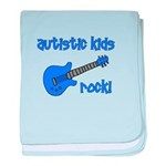 Autistic Kids Rock! Blue Guit baby blanket