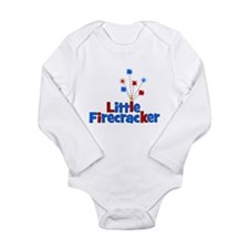 Little Firecracker! Long Sleeve Infant Bodysuit