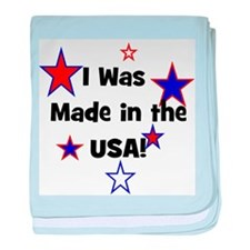 I Was Made in the USA! baby blanket