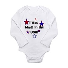 I Was Made in the USA! Long Sleeve Infant Bodysuit
