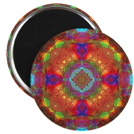 "Star Pattern in Orange 2.25"" Magnet (100 pack)"