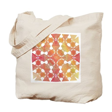 Star Pattern in Orange Tote Bag
