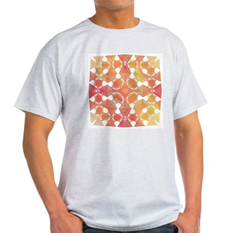 Star Pattern in Orange Ash Grey T-Shirt