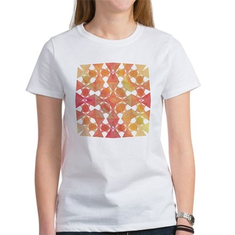 Star Pattern in Orange Women's T-Shirt