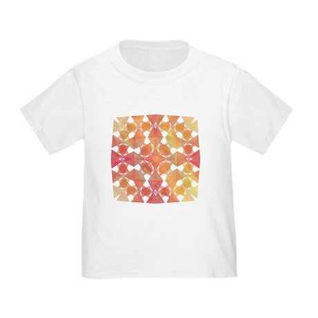 Star Pattern in Orange Toddler T-Shirt