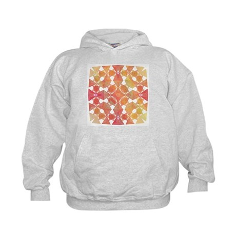 Star Pattern in Orange Kids Hoodie