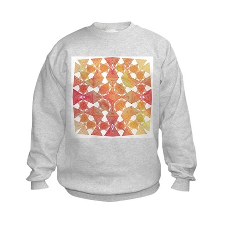 Star Pattern in Orange Kids Sweatshirt