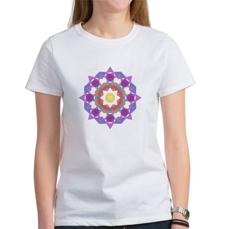 Purple Star Flower Women's T-Shirt
