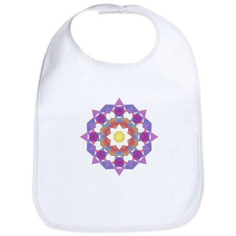 Purple Star Flower Bib