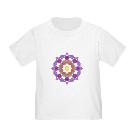 Purple Star Flower Toddler T-Shirt
