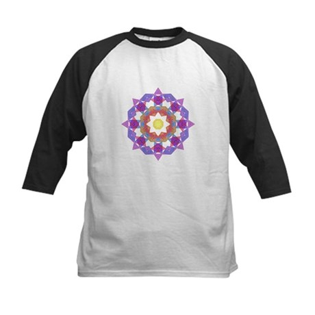 Purple Star Flower Kids Baseball Jersey