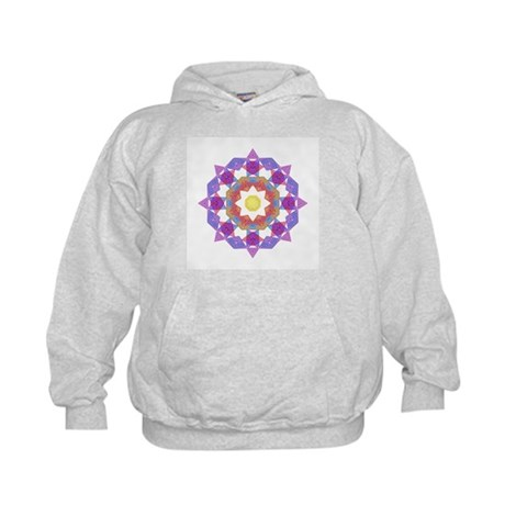 Purple Star Flower Kids Hoodie
