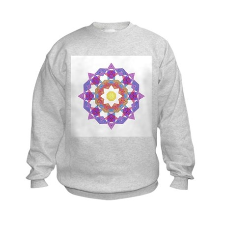 Purple Star Flower Kids Sweatshirt