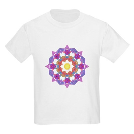 Purple Star Flower Kids T-Shirt
