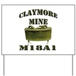 Claymore Mine Yard Sign