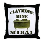 Claymore Mine Throw Pillow