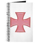 Pink Iron Cross Journal