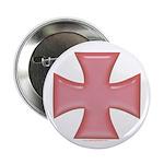 Pink Iron Cross Button
