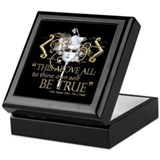 Hamlet &quot;Be True&quot; Quote Keepsake Box