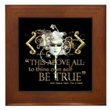 Hamlet &quot;Be True&quot; Quote Framed Tile