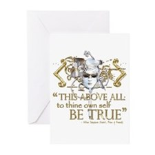 "Hamlet ""Be True"" Quote Greeting Cards (Pk of 20)"