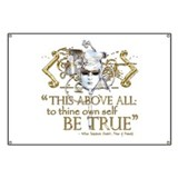 Hamlet &quot;Be True&quot; Quote Banner