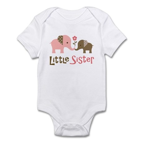 Little Sister - Mod Elephant Infant Bodysuit