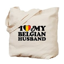 I Love My Belgian Husband Tote Bag